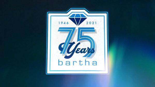 Bartha 75 Years logo