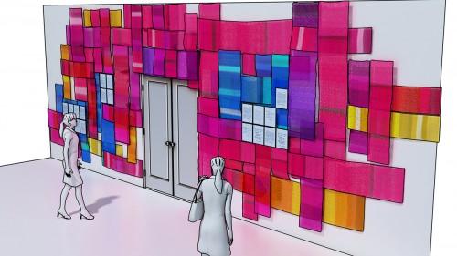 Prayer shawl wall concept art