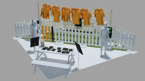 The Yard exhibit concept art