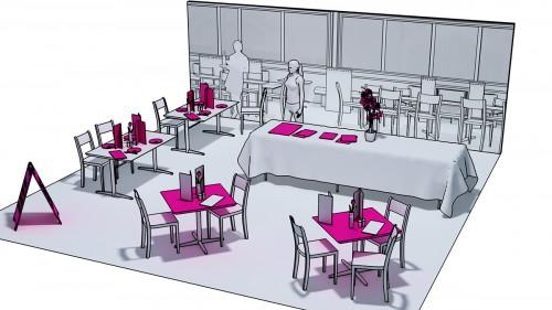 Restaurant exhibit concept art
