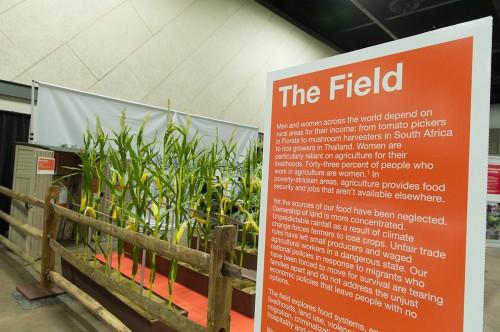 The Field exhibit entrance