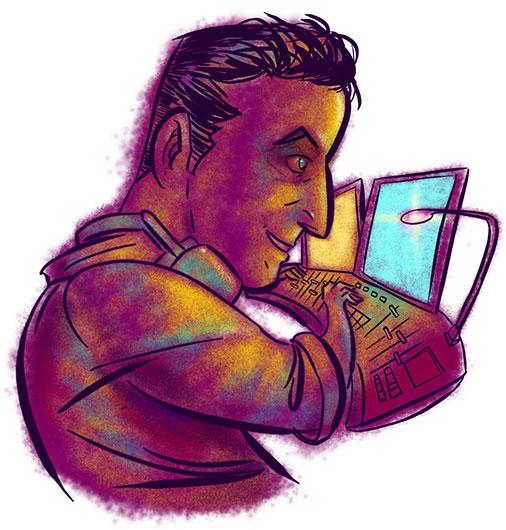 Nick Leedale caricature