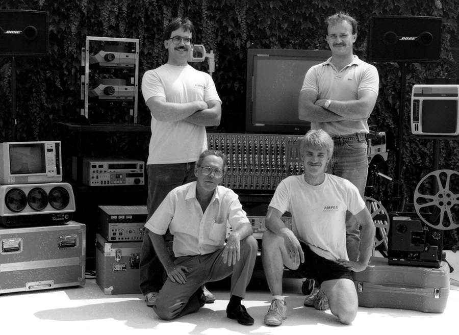 1989 - Clockwise from top left: Vince Plymire, Dan Bashore, Jerry Spencer, and Walter Fritz