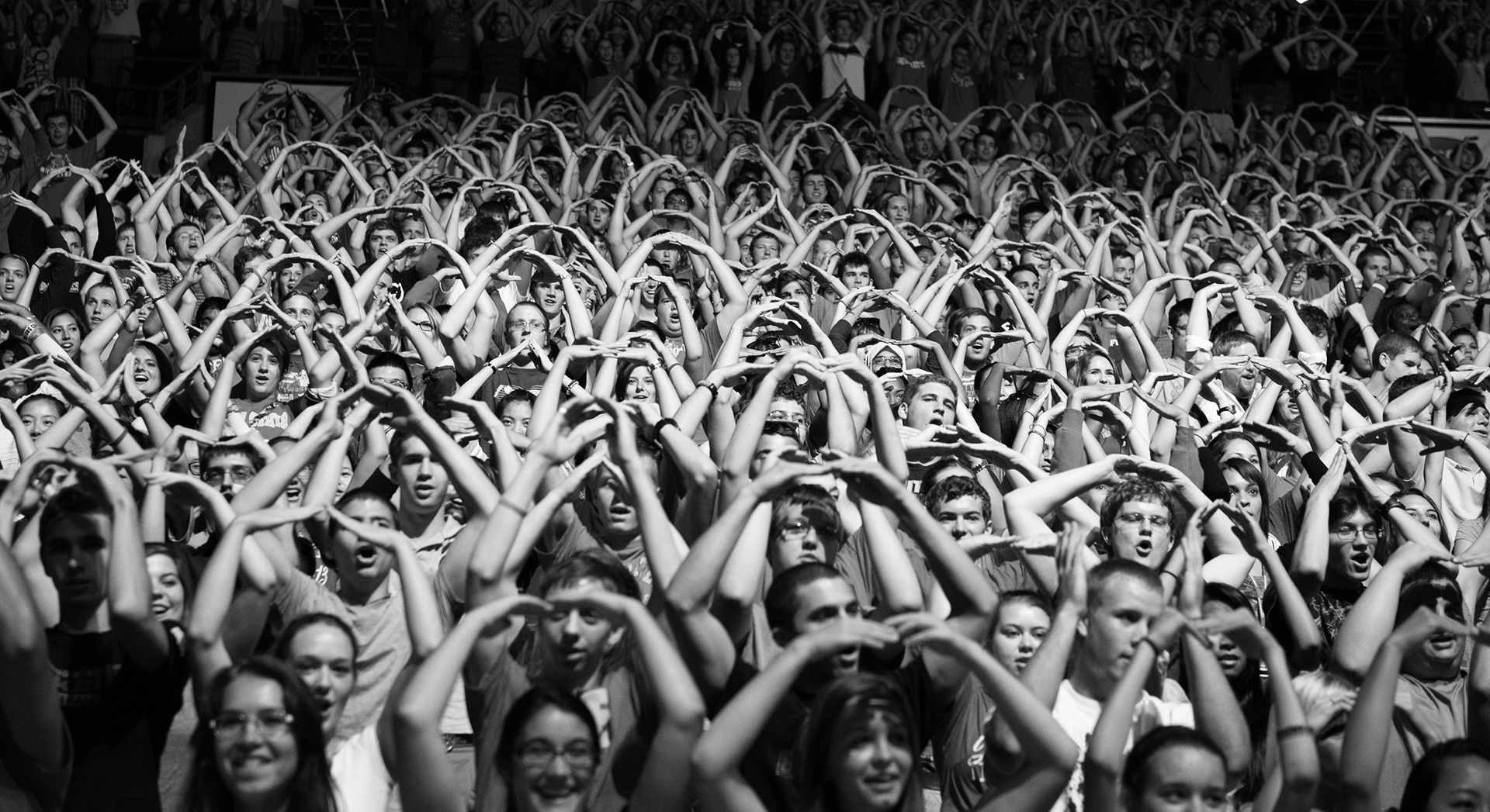 Ohio State University - freshman welcome O crowd